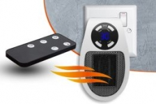 Plug-In Heater with Remote Control £9.99 !