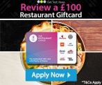 Get a Chance of a £100 gift card