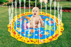 Round Inflatable Water Sprinkler Mat For Kids